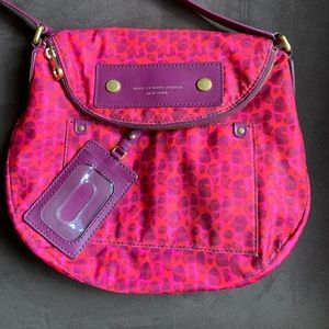 MARC BY MARC JACOBS Nylon Magenta Crossbody Bag